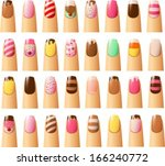 vector illustration of various... | Shutterstock .eps vector #166240772