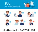 flu disease  remedy and... | Shutterstock .eps vector #1662435418
