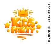 kids party title design...   Shutterstock .eps vector #1662458095