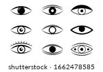 eye line icon. human organ of... | Shutterstock .eps vector #1662478585