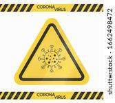 caution danger yellow sign... | Shutterstock .eps vector #1662498472