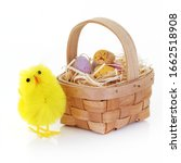 An Easter Chick And Candy Eggs...