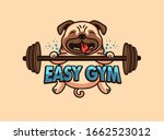 sport logo and emblem. easy gym ... | Shutterstock .eps vector #1662523012
