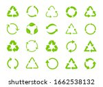 green recycle icons. set of... | Shutterstock .eps vector #1662538132