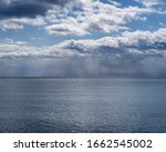 Lake Landscape With Puffy...