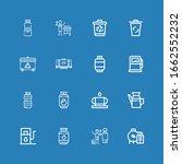 editable 16 tank icons for web... | Shutterstock .eps vector #1662552232