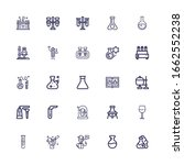 editable 25 beaker icons for... | Shutterstock .eps vector #1662552238