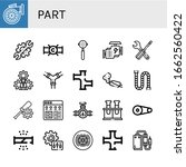 part simple icons set. contains ...   Shutterstock .eps vector #1662560422