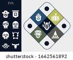 evil icon set. 13 filled evil... | Shutterstock .eps vector #1662561892