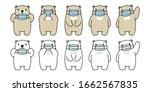 bear vector face mask covid 19... | Shutterstock .eps vector #1662567835