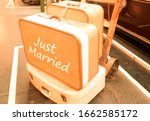 Vintage Photo Of Suitcases On...