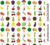 isolated pattern vegan set with ... | Shutterstock .eps vector #1662620368