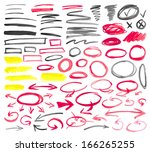 set of graphic signs. vector... | Shutterstock .eps vector #166265255