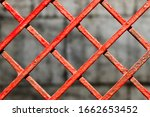 Red  Textured Metal Fence ...