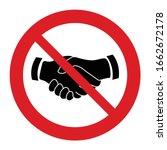 no handshake  vector. not...   Shutterstock .eps vector #1662672178