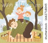 happy father's day  cute vector ... | Shutterstock .eps vector #1662718045