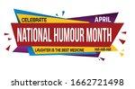 national humor month banner... | Shutterstock .eps vector #1662721498