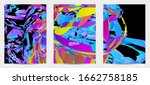 abstract flyer template with...   Shutterstock .eps vector #1662758185