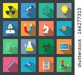 science flat icons set | Shutterstock .eps vector #166277315