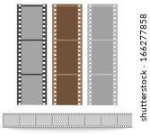 set of films pattern vector... | Shutterstock .eps vector #166277858