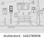 vector outline bus stop... | Shutterstock .eps vector #1662780838