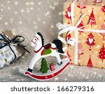 christmas composition with... | Shutterstock . vector #166279316