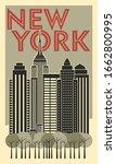 Tourist Poster New York. Retro...