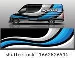 van car decal wrap design vector | Shutterstock .eps vector #1662826915