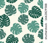 tropical background with... | Shutterstock .eps vector #1662829588