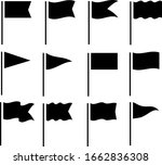 various fluttering flags an... | Shutterstock .eps vector #1662836308