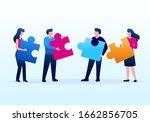 team work collaboration...   Shutterstock .eps vector #1662856705