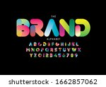vector of stylized modern font... | Shutterstock .eps vector #1662857062