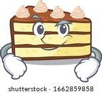 cool chocolate slice cake... | Shutterstock .eps vector #1662859858