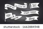 ribbon banner. set of black and ... | Shutterstock .eps vector #1662884548