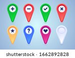 collection of map pins in... | Shutterstock .eps vector #1662892828