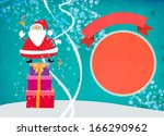 santa and bag christmas... | Shutterstock . vector #166290962