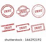 test stamps | Shutterstock .eps vector #166292192