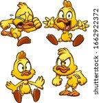cartoon duck with different... | Shutterstock .eps vector #1662922372