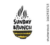 sunday brunch hand drawn... | Shutterstock .eps vector #1662933715