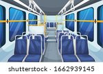 bus interior landscape with old ... | Shutterstock .eps vector #1662939145