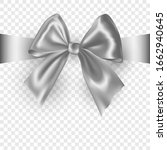 Silver Ribbon Bow With Shadow...