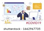 economy falling  financial... | Shutterstock .eps vector #1662967735