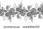 black and white border with... | Shutterstock .eps vector #1663006435