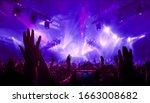 happy people dance in nightclub ...   Shutterstock . vector #1663008682