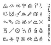 camping and outdoor vector icon ... | Shutterstock .eps vector #1663019482