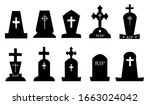 tombstone vector icon isolated...   Shutterstock .eps vector #1663024042