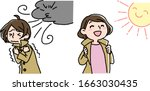 strong wind and the warmth of... | Shutterstock .eps vector #1663030435