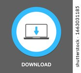download icon   vector download ... | Shutterstock .eps vector #1663031185