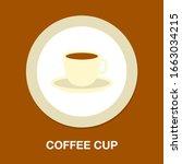 vector coffee cup illustration  ... | Shutterstock .eps vector #1663034215