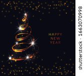 happy new 2021 year. holiday... | Shutterstock .eps vector #1663070998